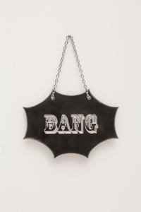 MK Guth, Bang, 2014 steel, 5.5 x 7.75 inches