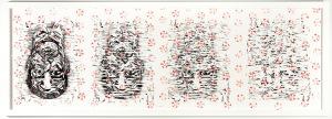 Katrina Andry, disappear, 2014 monoprint, 22 x 62 inches