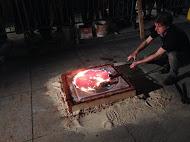 Bradley McCallum Gun Melting Performance, 2014 Jonathan Ferrara Gallery