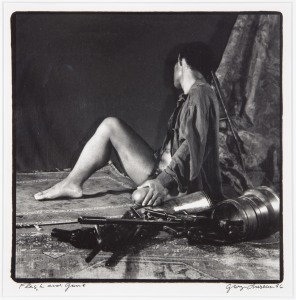 George Dureau, Flesh and Guns, 1996 photographic print, 18x18 inches